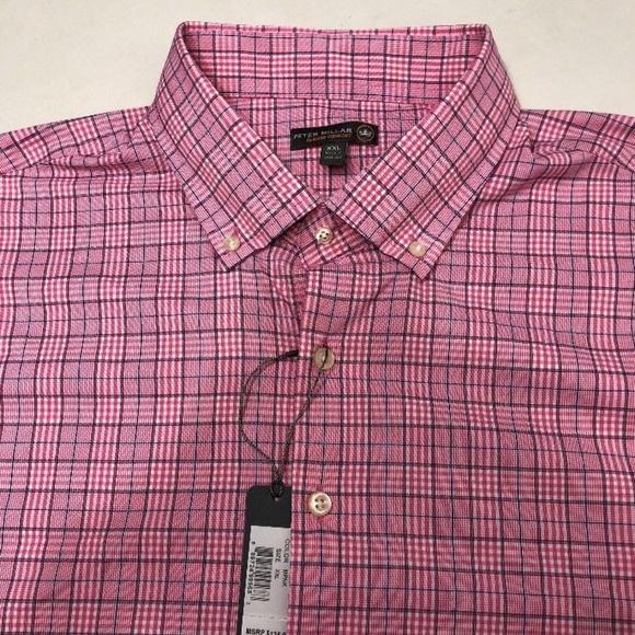 8891bbd7ad43 NEW Peter Millar Crown Sport Summer Pink Plaid. M 5b27e70ebaebf64e0adc7e34